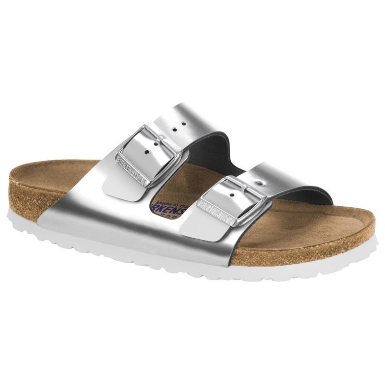 1005961 ARIZONA silver LEATHER SOFT FOOTBED